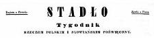 Stadło. Tygodnik rzeczom polskim i słowiańskim poświęcony. 1849 No 1