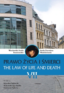 Argumentacja oparta na zasadzie autonomii i godności człowieka w sporze o legalizację eutanazji