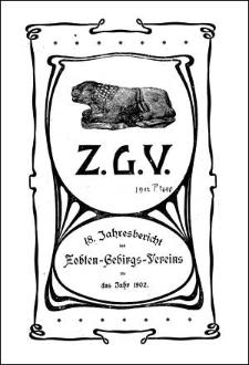 Jahresbericht des Zobten-Gebirgs-Vereins für das Jahr 1902