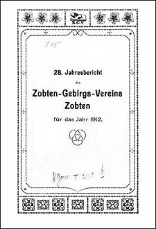 Jahresbericht des Zobten-Gebirgs-Vereins Zobten für das Jahr 1912