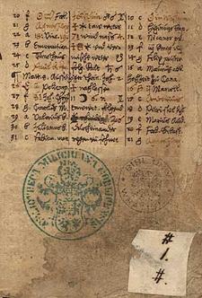 Kalendarze i prognostyki na lata 1586-1594