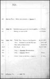 Hif - Hoeg. [Alphabetischer Bandkatalog der Stadtbibliothek zu Breslau].