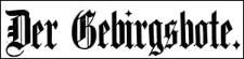 Der Gebirgsbote 1908-04-03 Jg.60 Nr 27