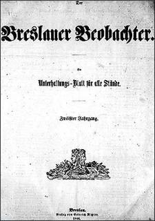Breslauer Beobachter. Ein Unterhaltungs-Blatt für alle Stände. 1846 Jg. 12