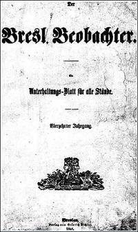 Breslauer Beobachter. Ein Unterhaltungs-Blatt für alle Stände. 1848 Jg. 14