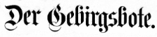 Der Gebirgsbote 1894-10-30 [Jg. 46] Nr 87