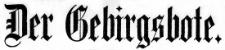 Der Gebirgsbote 1918-01-04 Jg. 69 Nr 1