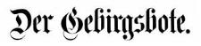 Der Gebirgsbote 1890-01-01 [Jg. 42] Nr 1