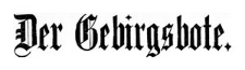 Der Gebirgsbote 1909-04-20 Jg. 61 Nr 32