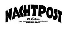 Nachtpost. Eine Wochenschrift für Gesellschaft, Sport und Kultur 1929-01-09 Jg. 8 Nr 1