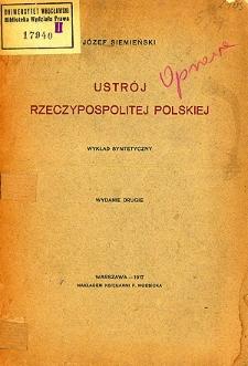 Ustrój Rzeczypospolitej Polskiej : wykład syntetyczny