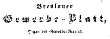 Breslauer Gewerbe-Blat 1858 Register