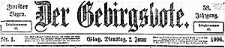 Der Gebirgsbote. 1906-12-11 Jg. 59 Nr 99