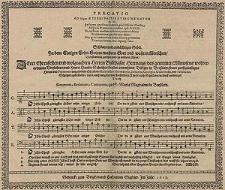 Precatio ad logon aeterni patris e' virgine natum [...] Schönes andächtiges Gebet. Zu dem einigen Sohn Gottes [...] vierstimmig gesetzet und zu [...] Ehren [...] Herren Balthasar Hermans [...] und [...] Hansen Scholtzes [...] vorfertiget [...] durch Simonem Beslerum [...].