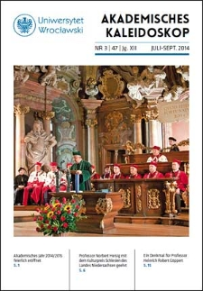 Akademisches Kaleidoskop Jg.12 Nr 3 (47) Juli-September 2014