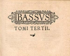 Tomus tertius psalmorum selectorum quatuor et plurium vocum.