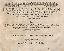Sacrarum cantionum quinque, sex, septem et octo vocibus [...] Altus