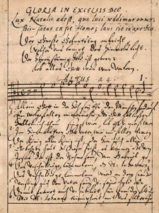 """Zbiór 40 utworów wokalnych o treści religijnej, na końcu pięć zwrotek """"De Dulcedine Nominis Jesu"""""""