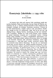 Konstytucja Jakobińska z 1793 roku