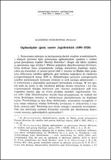 Ogólnośląskie zjazdy czasów Jagiellońskich : (1490-1526)
