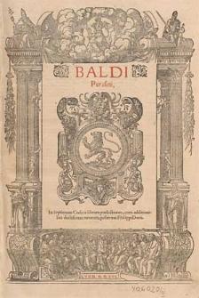 Baldi Perusini In septimum [-nonum] Codicis librum praelectiones cum additionibus [...] Philippi Decii.
