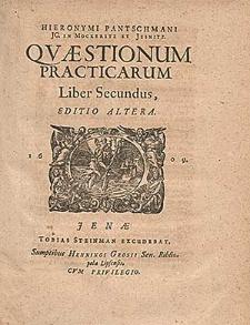 Hieronymi Pantschmanni JC. In Mockeritz Et Jesnitz Qvæstionum Practicarum Liber [...]. Lib. 2.