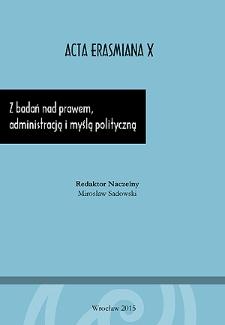 Z badań nad prawem, administracją i myślą polityczną