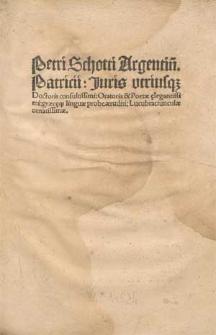 Lucubratiunculae / Ed. Jacobus Wimpheling.