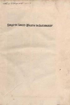De sacramentis Christianae fidei.