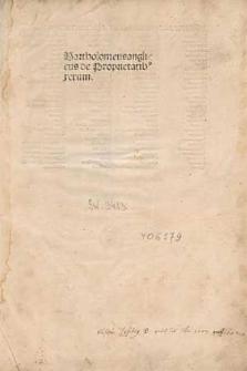 De proprietatibus rerum.