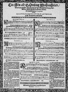 Ein schön alt Gottselig Weihnachtlied [...] mit fünff Stimmen componirt [...].