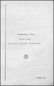 Stadtbibliothek zu Breslau. Standorts-Katalog der im Lesezimmer aufgestellten Handbibliothek.