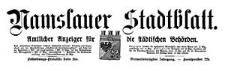 Namslauer Stadtblatt. Amtlicher Anzeiger für die städtischen Behörden. 1914-10-31 Jg. 43 Nr 85