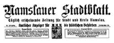 Namslauer Stadtblatt. Täglich erscheinende Zeitung für Stadt und Kreis Namslau. Amtlicher Anzeiger für die städtischen Behörden. 1925-09-26 Jg. 53 Nr 226