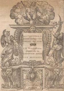 All' Invitiss. e Gloriosiss. Imp. Carlo Quinto. Le trasformationi di M. Lodovico Dolce [...]
