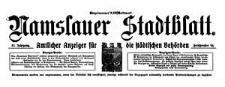 Namslauer Stadtblatt. Amtlicher Anzeiger für die städtischen Behörden. 1924-03-01 Jg.52 Nr 18