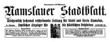 Namslauer Stadtblatt. Wöchentlich sechsmal erscheinende Zeitung für Stadt und Kreis Namslau. Amtlicher Anzeiger für die städtischen Behörden. 1924-06-28 Jg.52 Nr 73