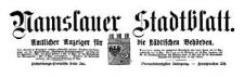 Namslauer Stadtblatt. Amtlicher Anzeiger für die städtischen Behörden. 1915-10-16 Jg. 44 Nr 81