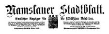Namslauer Stadtblatt. Amtlicher Anzeiger für die städtischen Behörden. 1917-11-10 Jg. 45 Nr 88