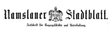 Namslauer Stadtblatt 1879-11-08 [Jg. 8] Nr 87