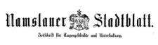 Namslauer Stadtblatt 1882-01-03 [Jg. 11] Nr 1