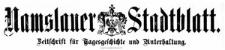 Namslauer Stadtblatt 1898-11-12 [Jg. 27] Nr 88