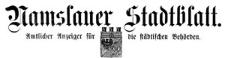 Namslauer Stadtblatt 1921-01-15 [Jg. 49] Nr 4