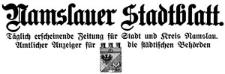 Namslauer Stadtblatt 1929-01-03 [Jg. 57] Nr 2