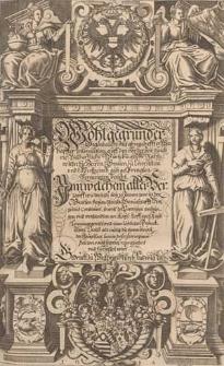 Wohlgegründer Gegenbericht mit ahngeheffter warhaffter Information auff den vor der Zeit durch die bischoffliche würtzburgische Rähte wieder die Herren Graven zu Löwenstein und Wertheimb außgesprengten vermeinten Bericht [...].