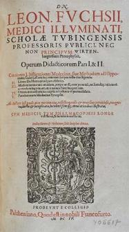 Operum didacticorum Pars [...]
