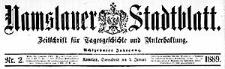 Namslauer Stadtblatt. Zeitschrift für Tagesgeschichte und Unterhaltung 1889-01-01 Jg.18 Nr 1