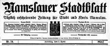 Namslauer Stadtblatt. Täglich erscheinende Zeitung für Stadt und Kreis Namslau.1934-04-21 Jg.62 Nr 92
