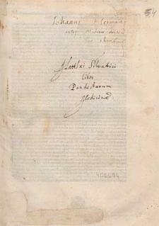 Liber pandectarum medicinae / Ed. Matthaeus Moretus.
