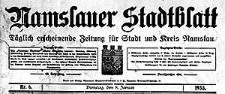 Namslauer Stadtblatt. Täglich erscheinende Zeitung für Stadt und Kreis Namslau. 1935-03-27 Jg.63 Nr 73